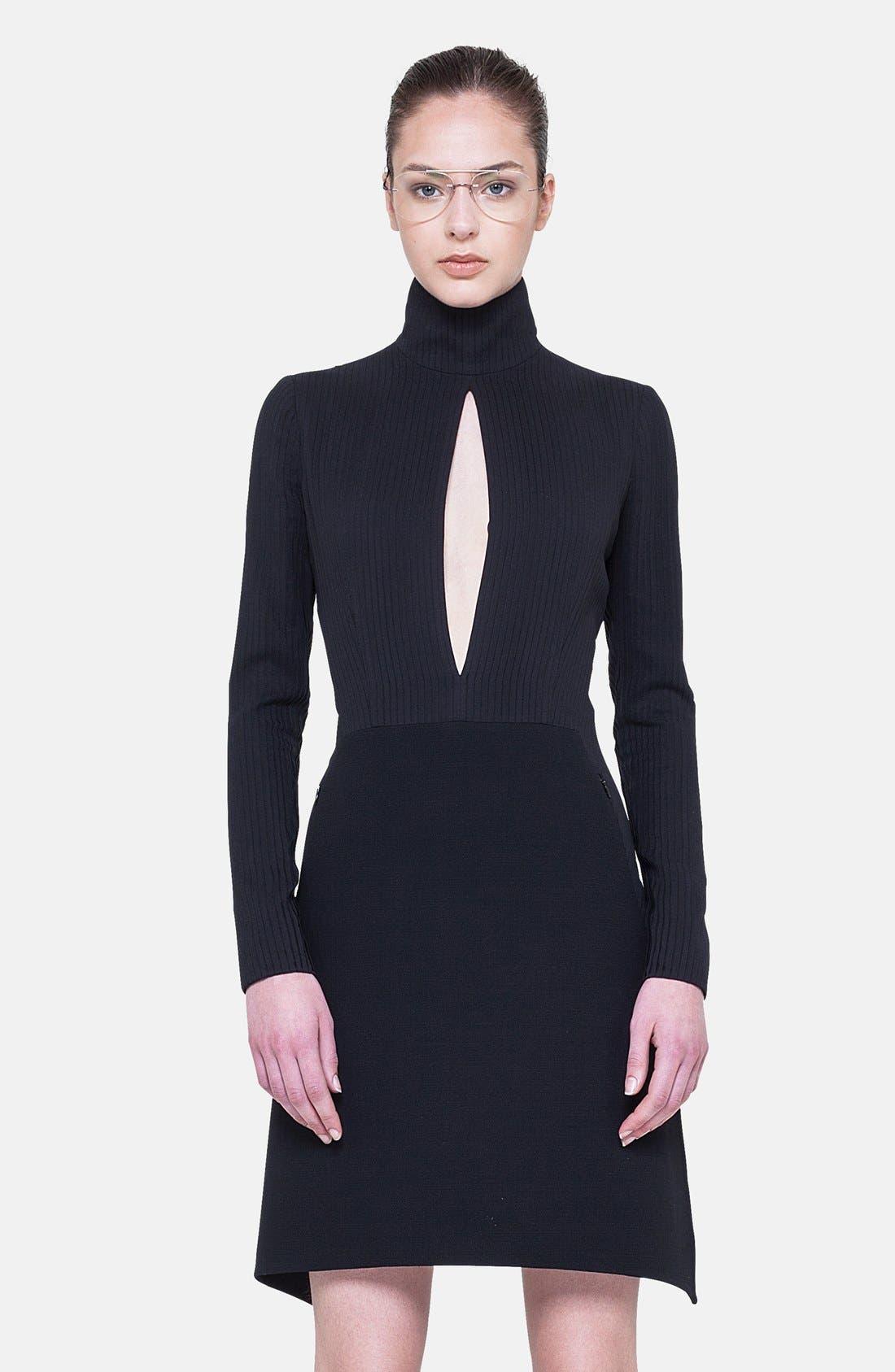 Alternate Image 3  - Akris Long Sleeve Silk Plissé Detail Dress