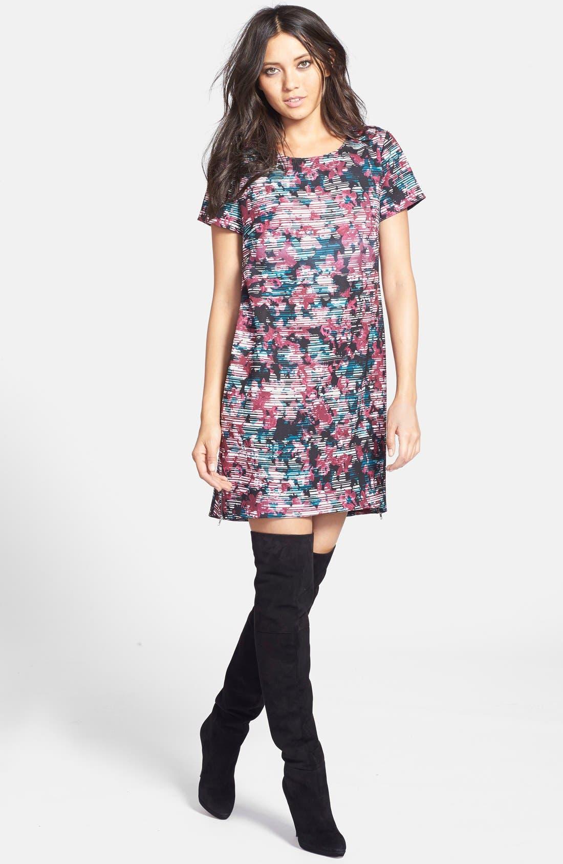Main Image - Wayf Crepe Print Shift Dress
