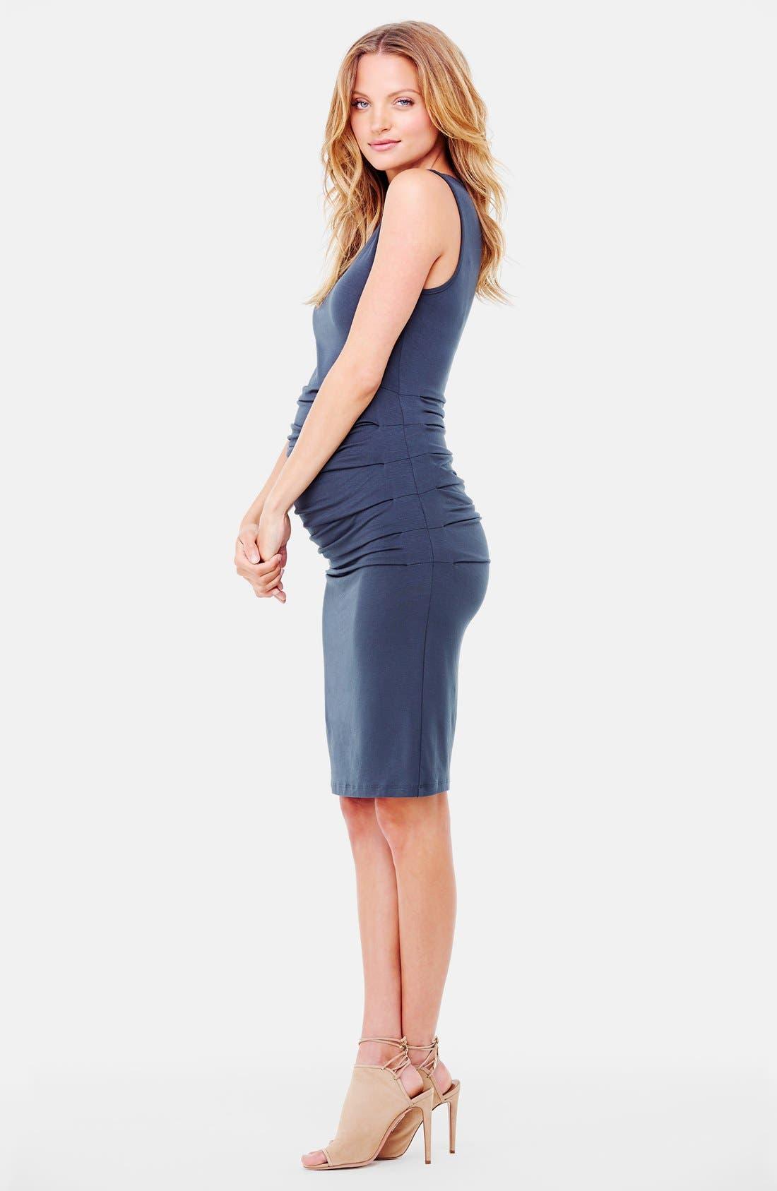 Alternate Image 3  - Ingrid & Isabel® Ruched Maternity Tank Dress