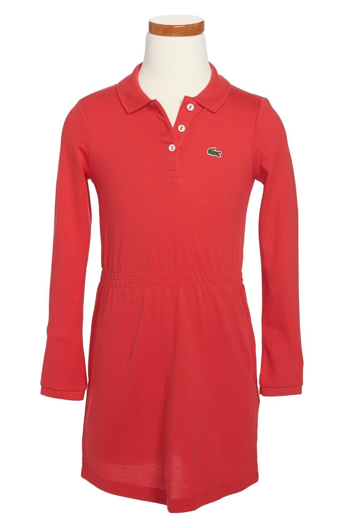 Alternate Image 1 Selected - Lacoste Piqué Polo Dress (Toddler Girls & Little Girls)