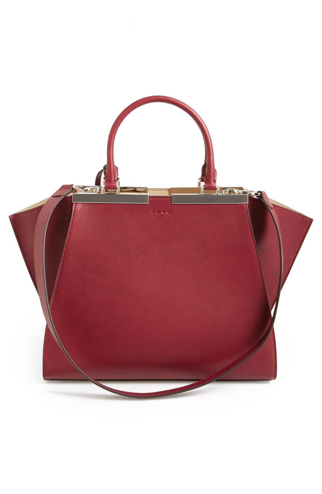 Alternate Image 4  - Fendi 'Petit 3Jours' Leather Shopper