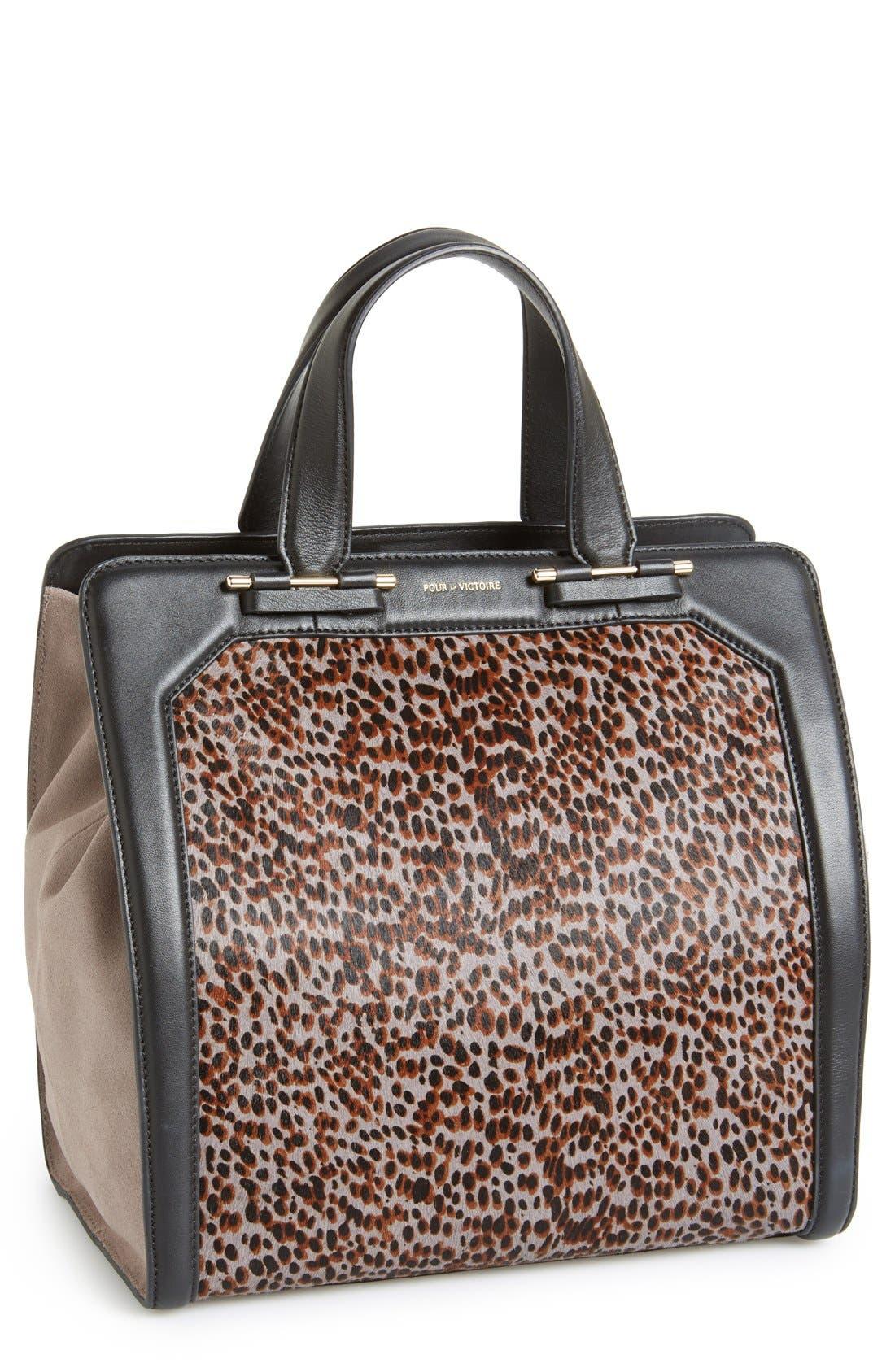 Main Image - Pour la Victoire 'Servant' Leather & Genuine Calf Hair Tote