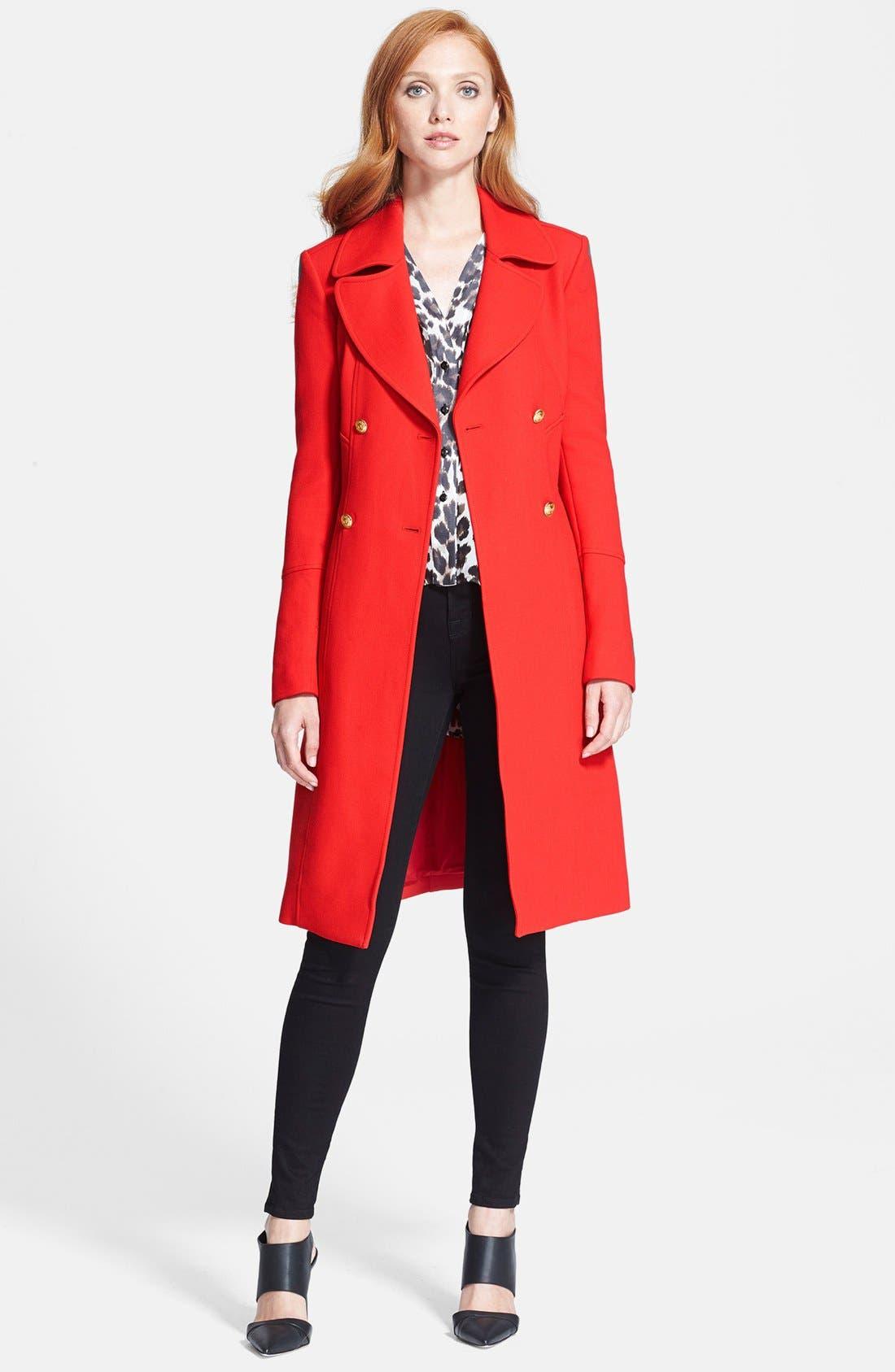 Alternate Image 1 Selected - Diane von Furstenberg 'Mirabella' Wool Blend Coat