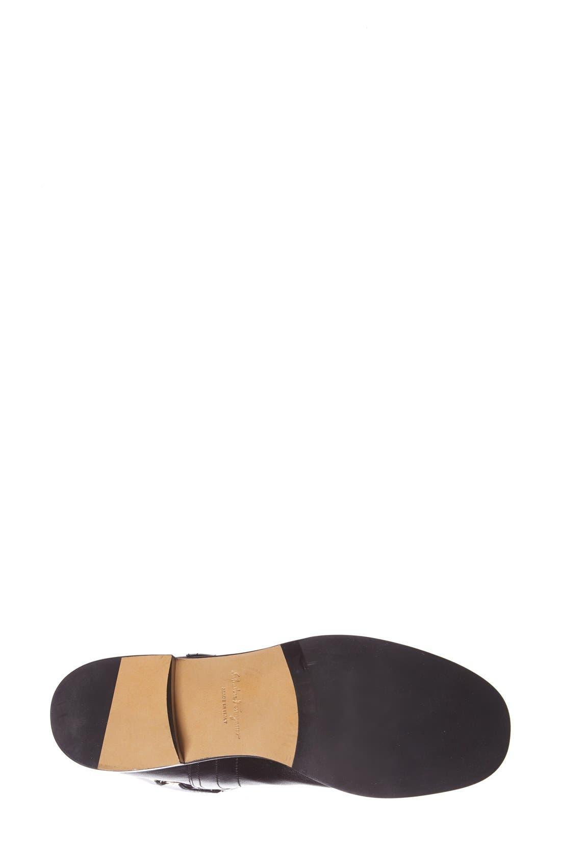 Alternate Image 4  - Salvatore Ferragamo 'Nando' Chain Trim Leather Boot (Women)
