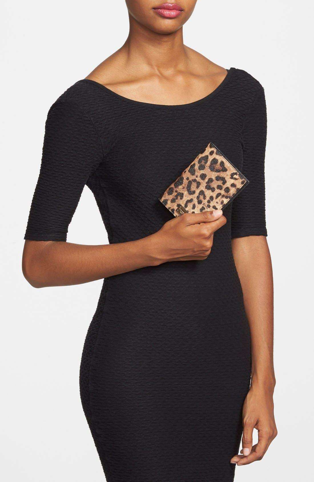 Alternate Image 4  - Dolce&Gabbana Leopard Print Passport Cover