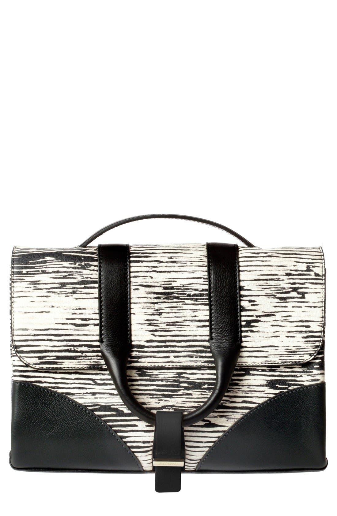 Main Image - Jason Wu 'Hanne' Printed Calfskin Leather Messenger Bag