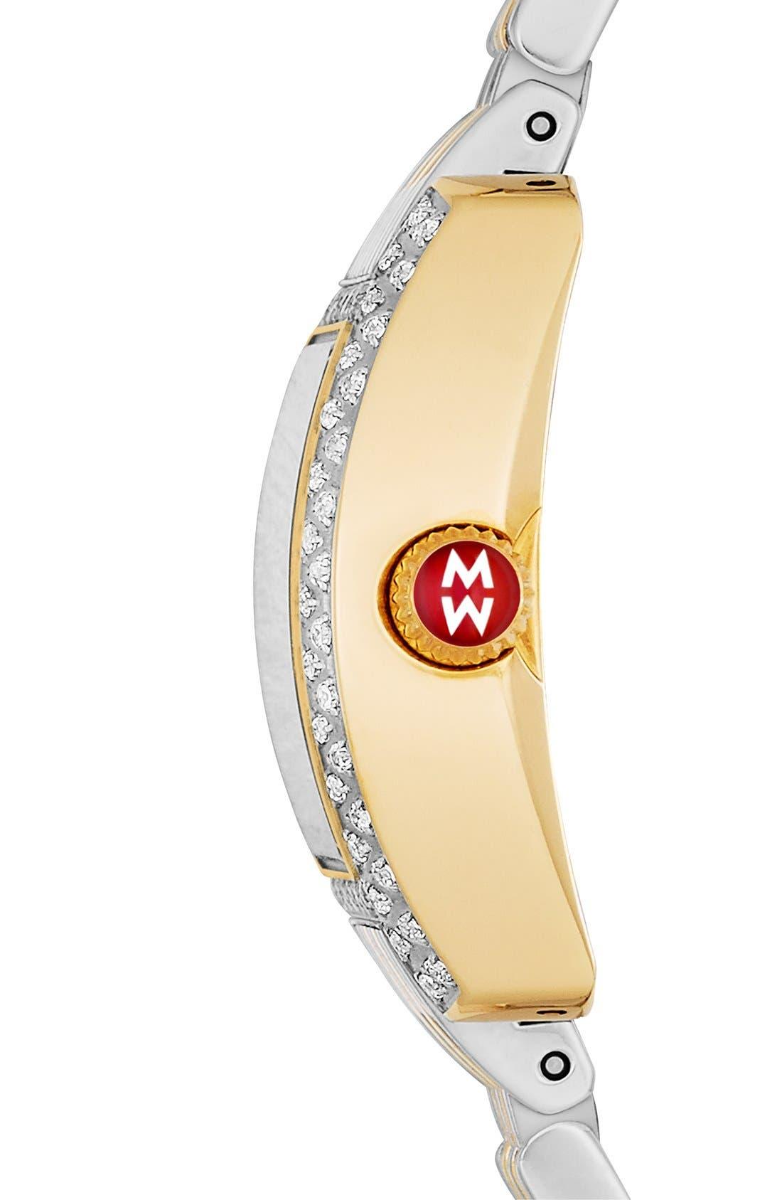 Alternate Image 3  - MICHELE 'Urban Petite Diamond' Diamond Dial Watch Case, 21mm x 22mm (Limited Edition)