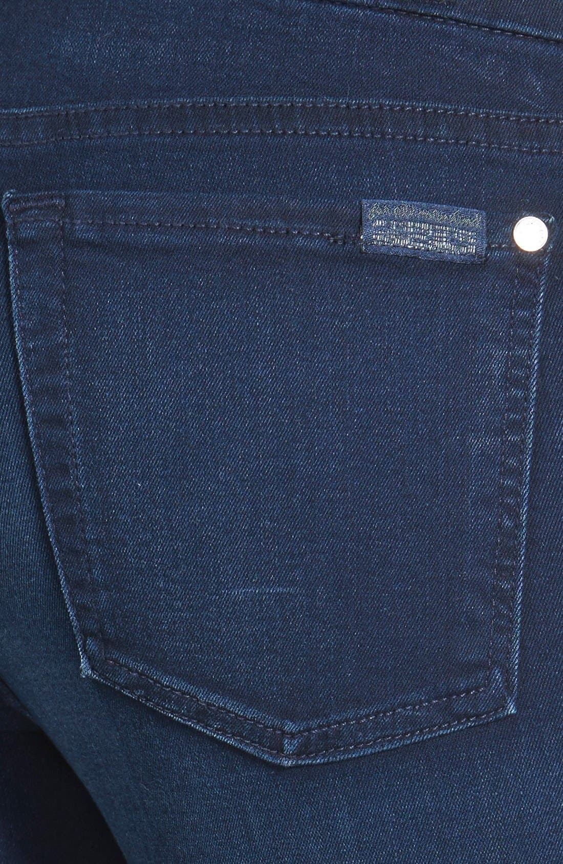 Alternate Image 3  - 7 For All Mankind® 'Slim Illusion Luxe' Mid Rise Skinny Jeans (Rich Blue)