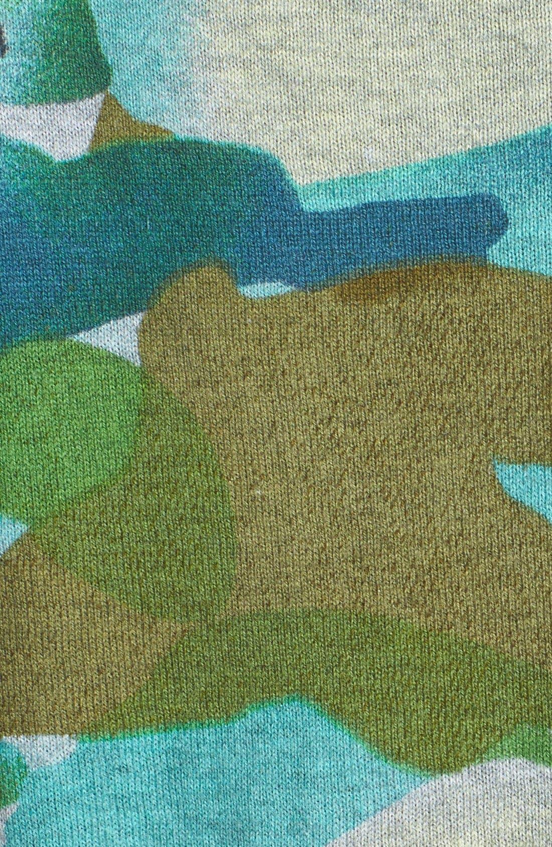Alternate Image 3  - Two by Vince Camuto Contrast Trim Camo Print Sweater (Regular & Petite)