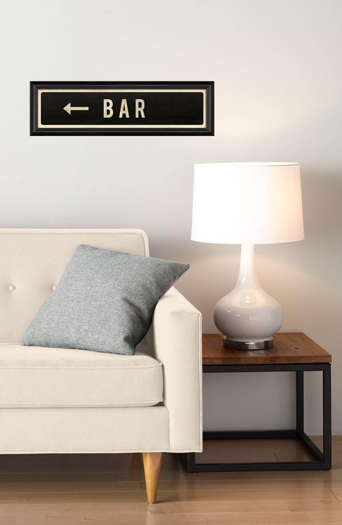 Alternate Image 2  - Spicher and Company 'Bar Left' Vintage Look Street Sign Artwork