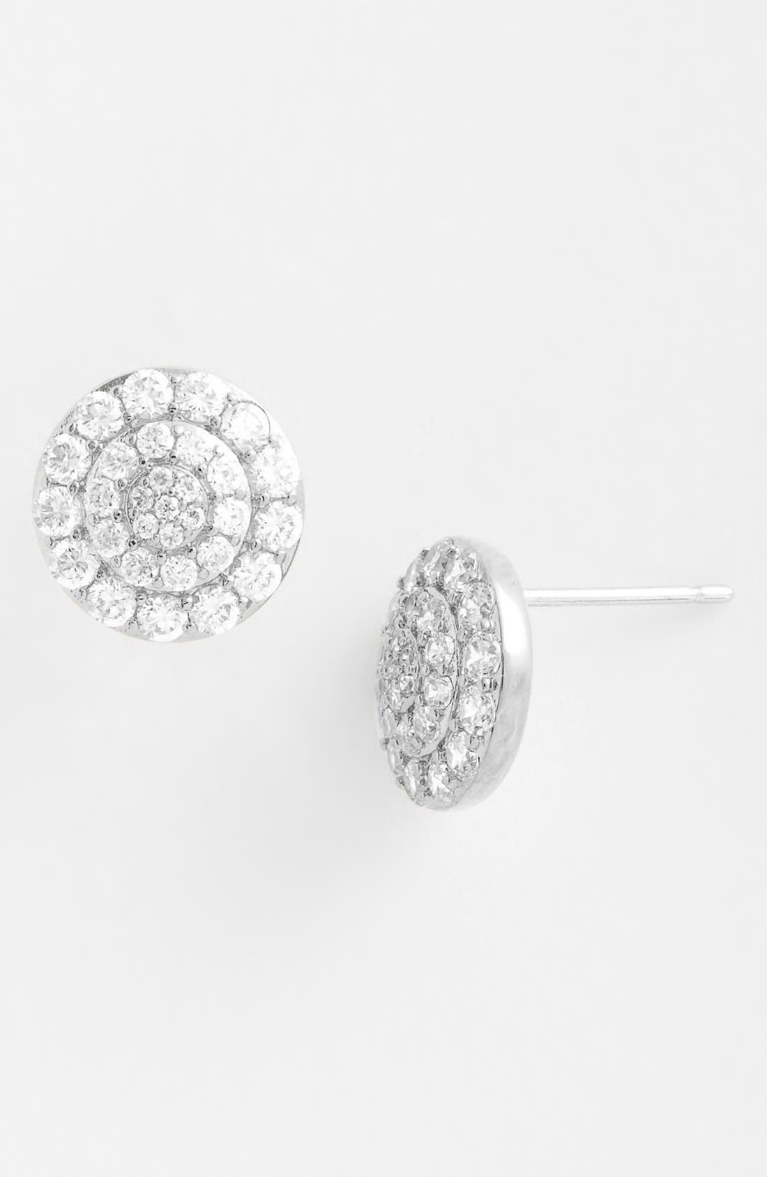 Alternate Image 2  - Nadri Round Stud Earrings