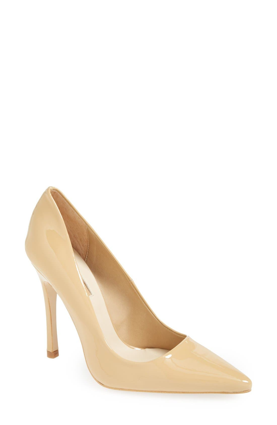 Alternate Image 1 Selected - Topshop 'Gallop' Patent Pointy Toe Pump (Women)