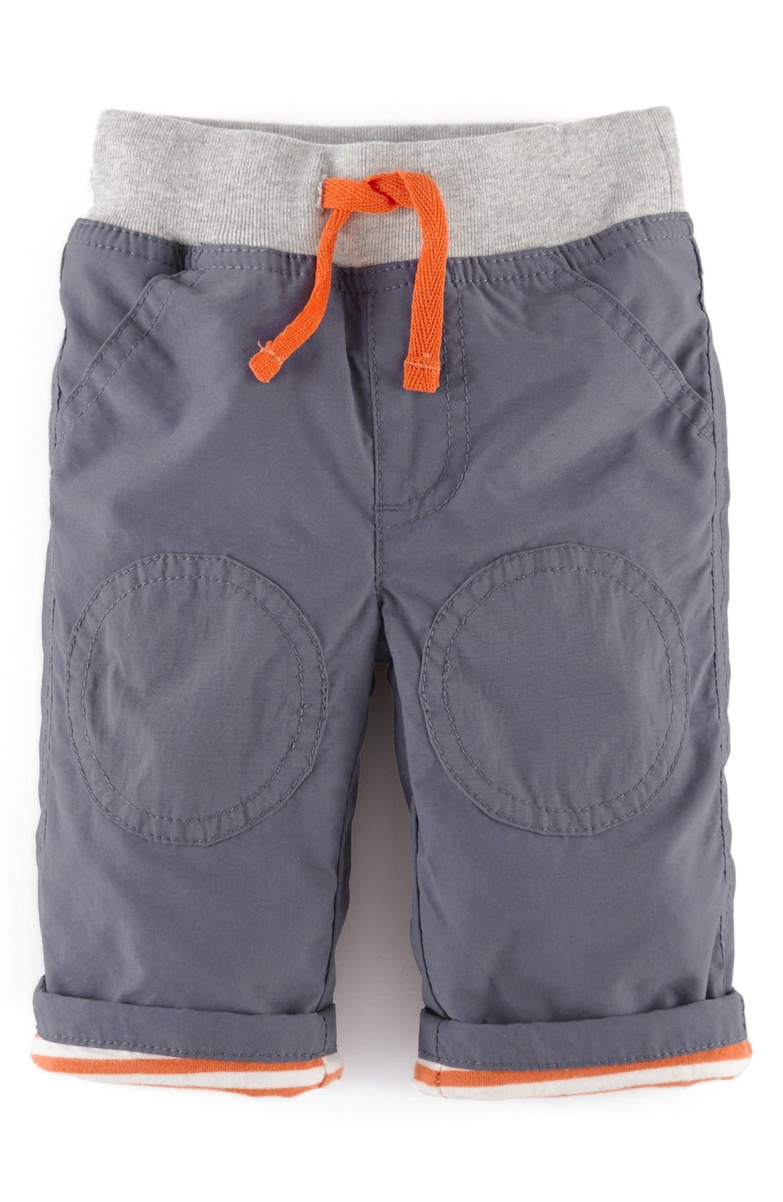 Alternate Image 1 Selected - Mini Boden Cozy Knee Patch Trousers (Baby)