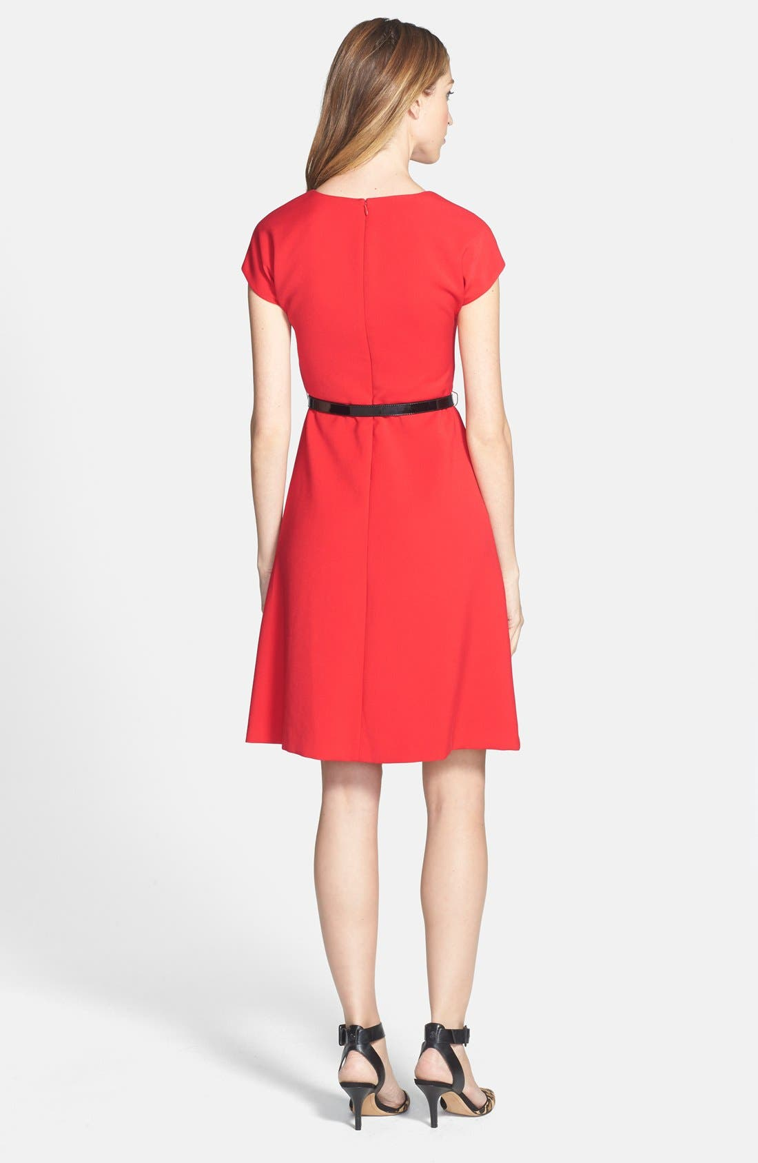 Alternate Image 2  - Anne Klein Belted Fit & Flare Dress