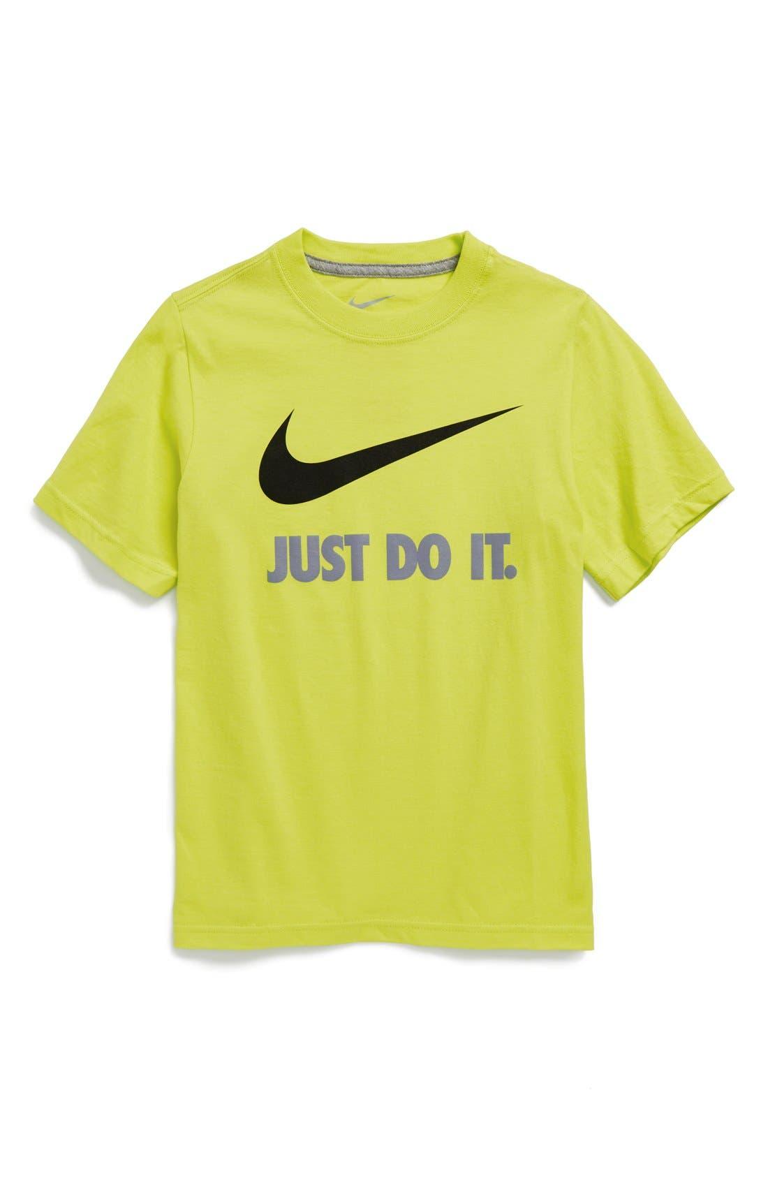 Alternate Image 1 Selected - Nike Logo T-Shirt (Big Boys)