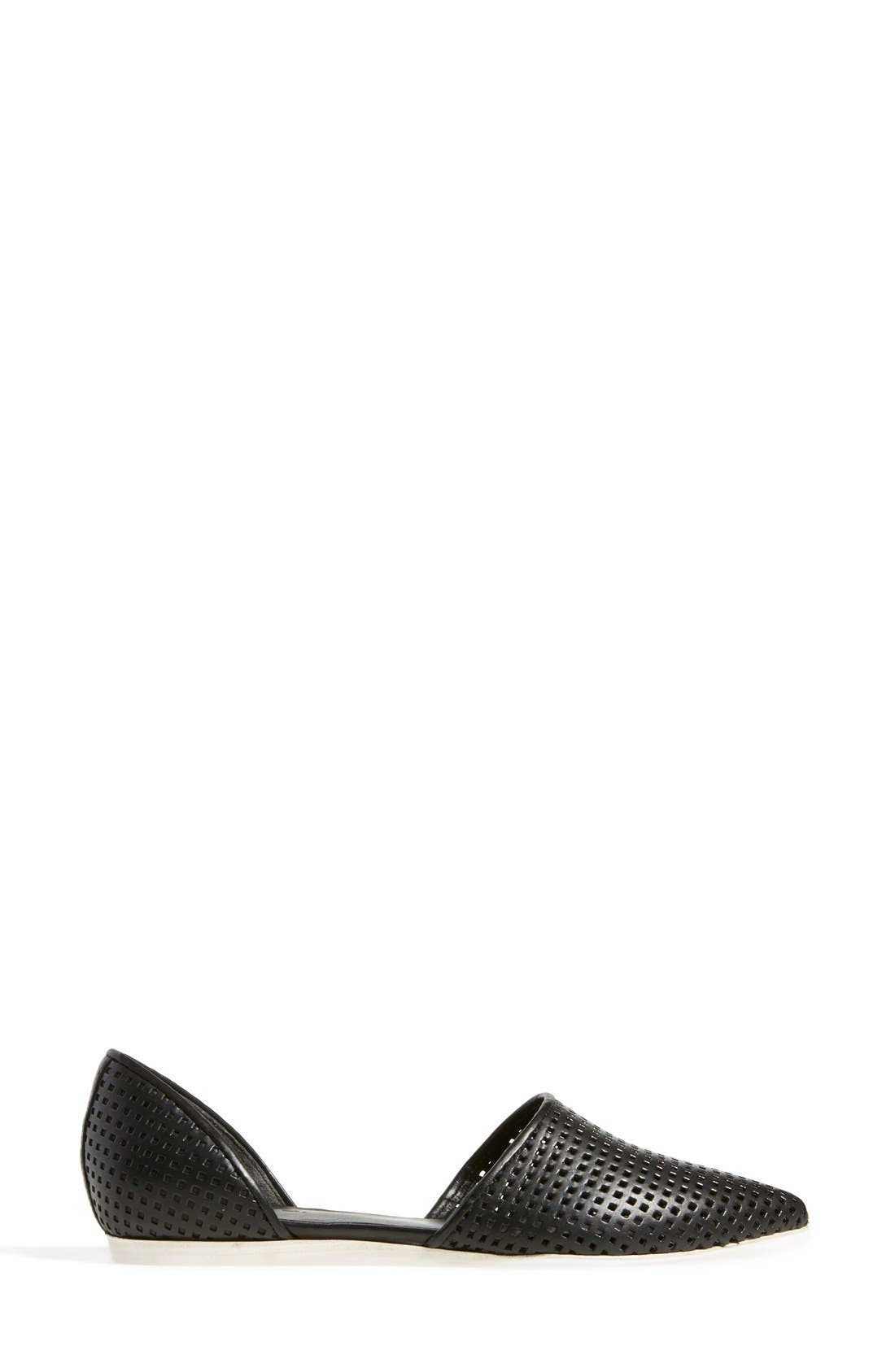 Alternate Image 4  - Vince 'Nina 2' Perforated Leather D'Orsay Flat (Women)