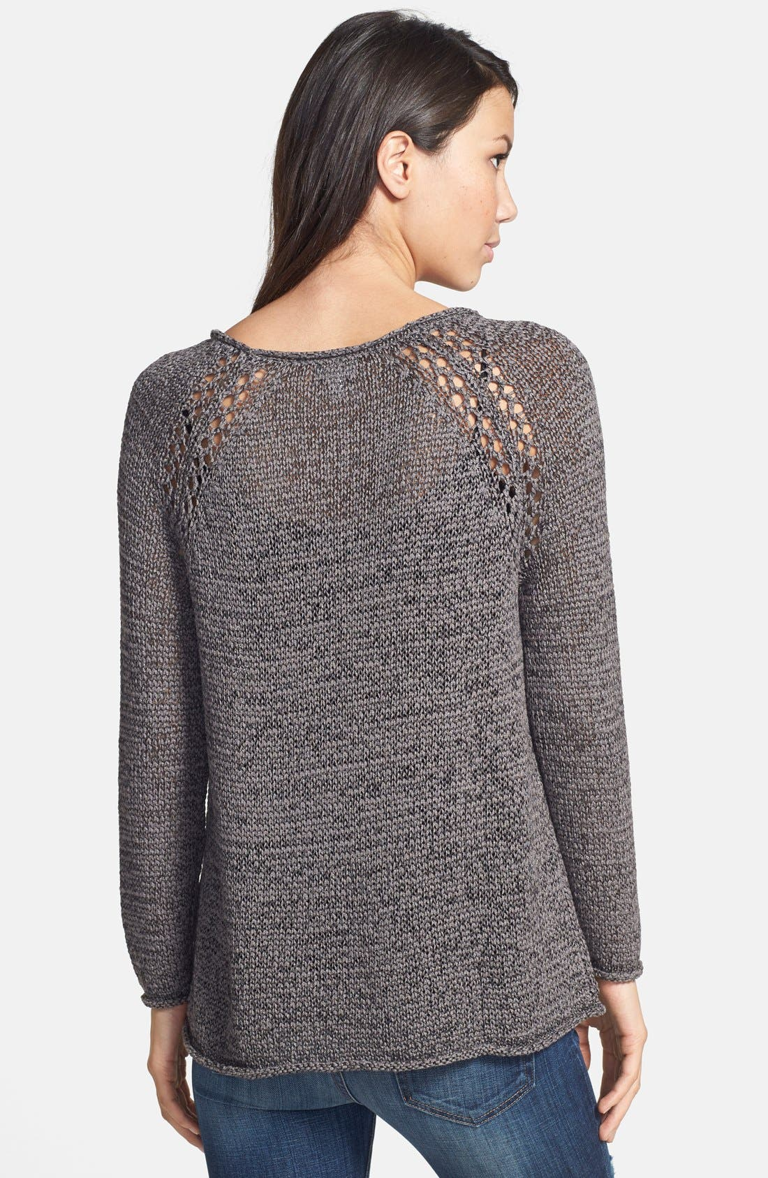 Alternate Image 2  - Soft Joie Open Knit Pullover