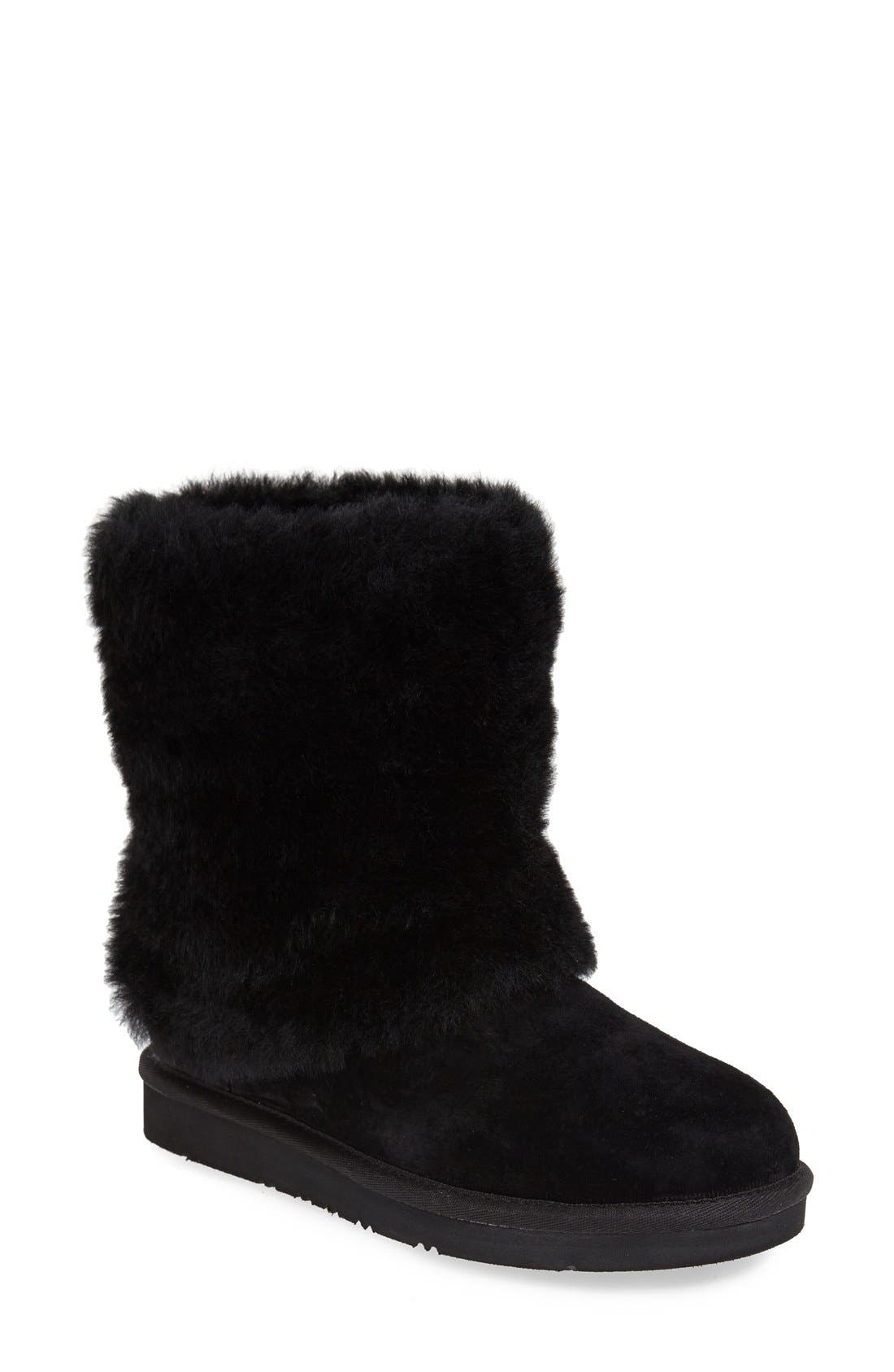 Alternate Image 1 Selected - UGG® 'Patten' Water Resistant Silkee™ Suede Shearling Cuff Boot (Women)
