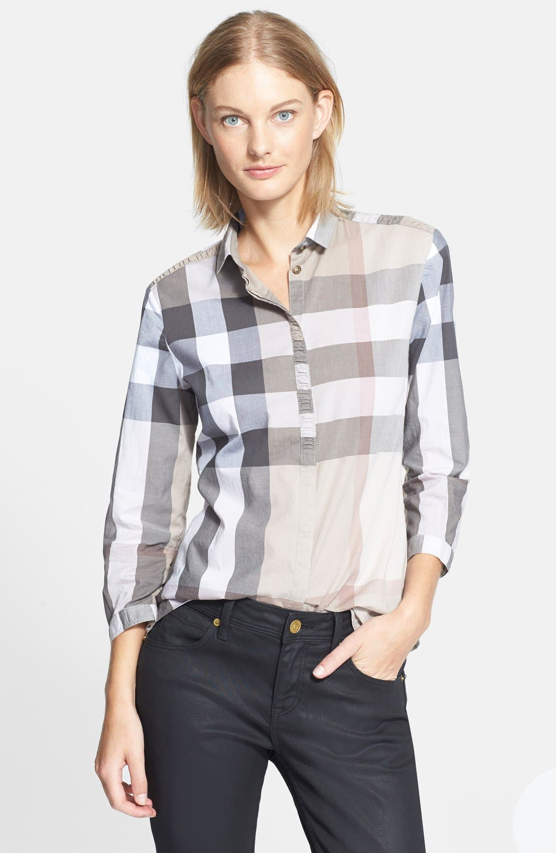 Alternate Image 1 Selected - Burberry Brit Pieced Check Shirt