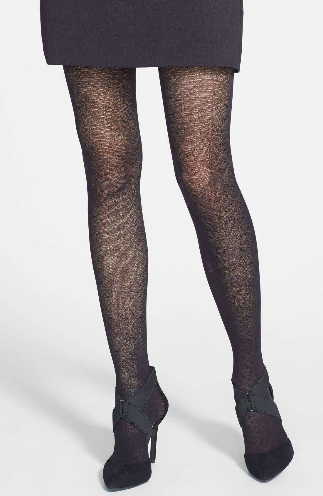 Main Image - Star Power by SPANX® Nouveau Pattern Shaping Tights