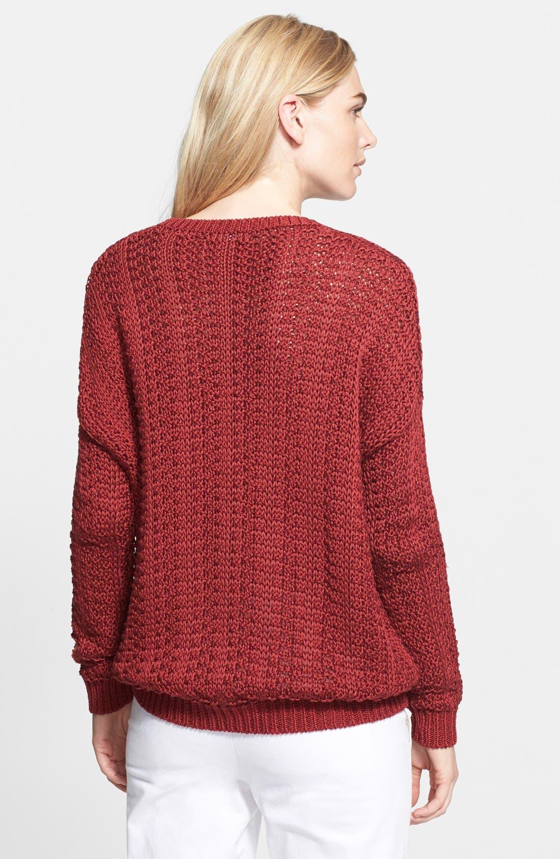 Alternate Image 2  - Vince Mercerized Textured Sweater