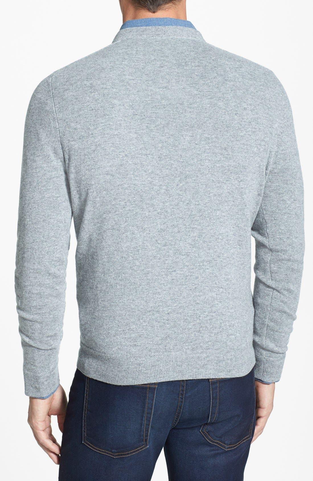 Alternate Image 2  - John W. Nordstrom® V-Neck Cashmere Sweater
