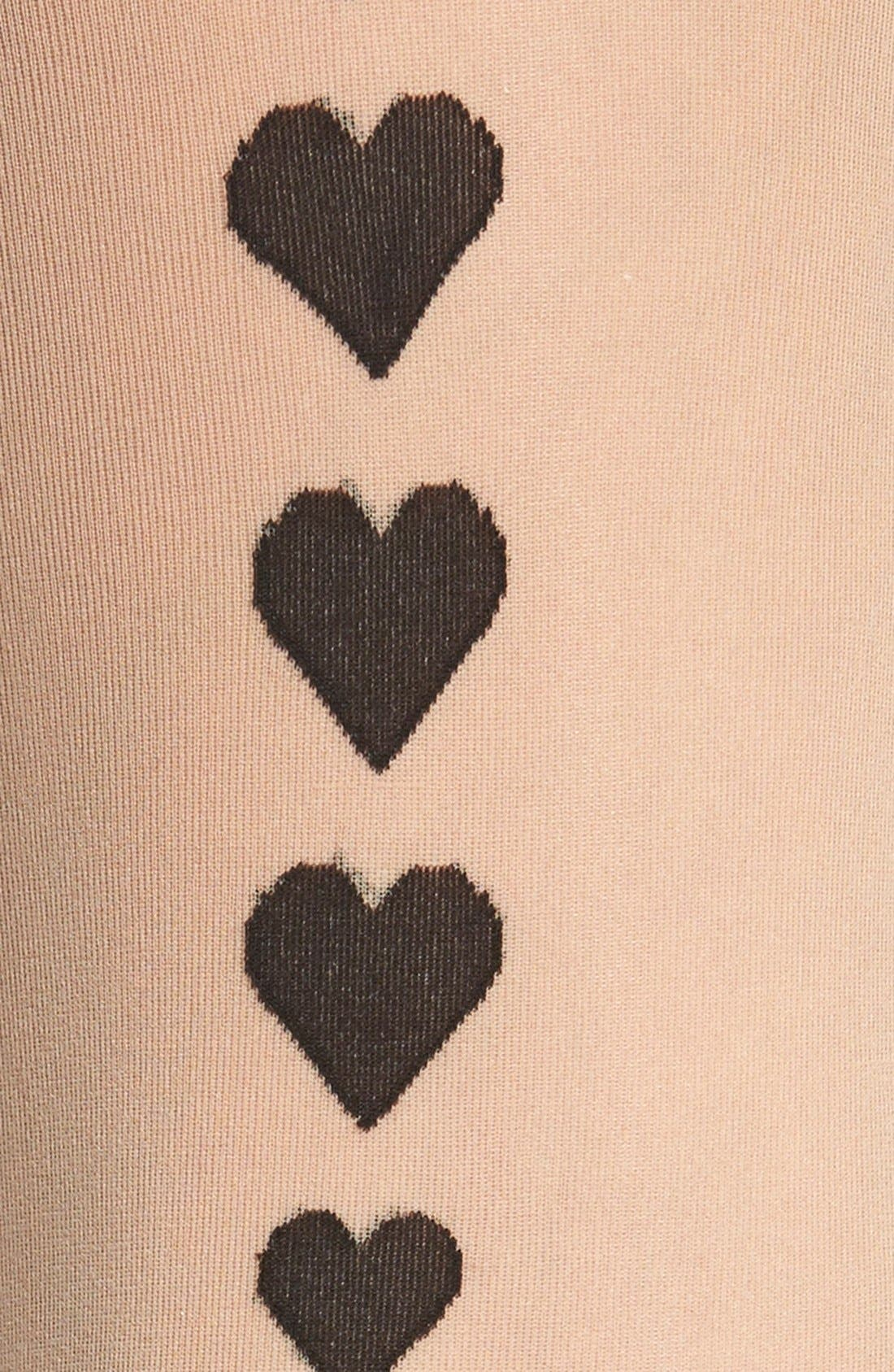 Alternate Image 3  - Pretty Polly Heart Detail Back Seam Tights
