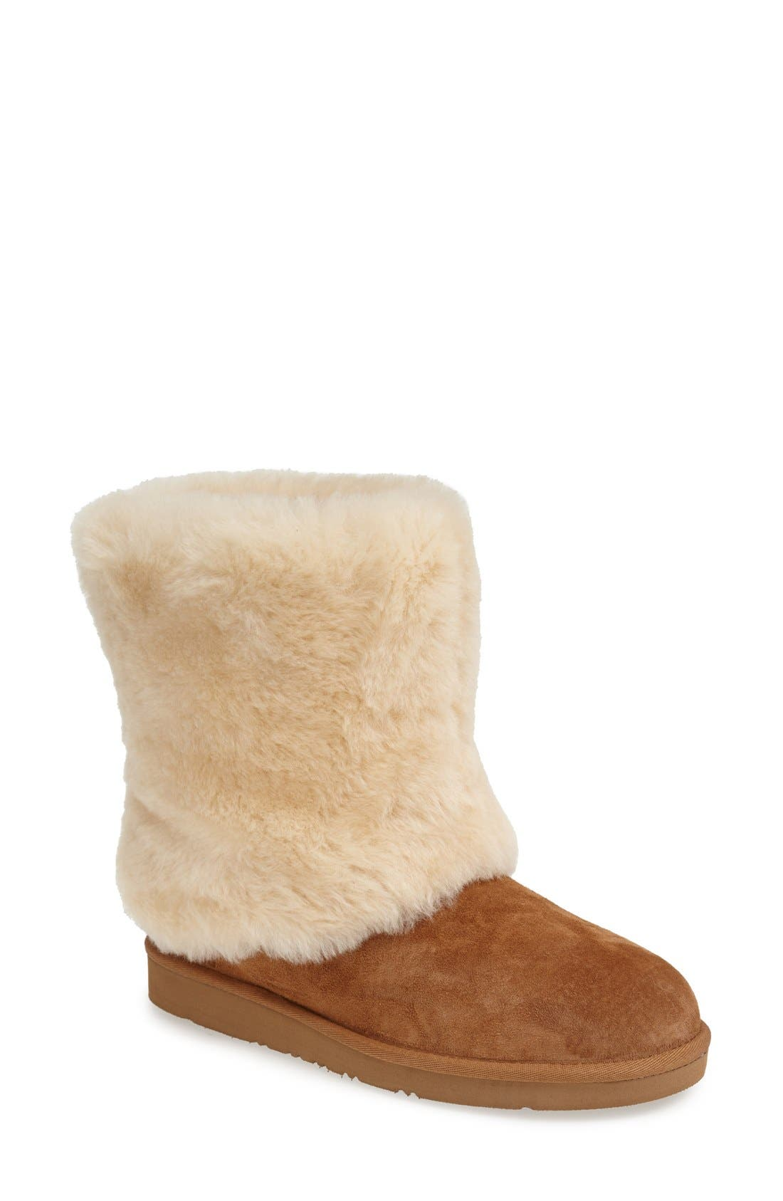 Main Image - UGG® 'Patten' Water Resistant Silkee™ Suede Shearling Cuff Boot (Women)