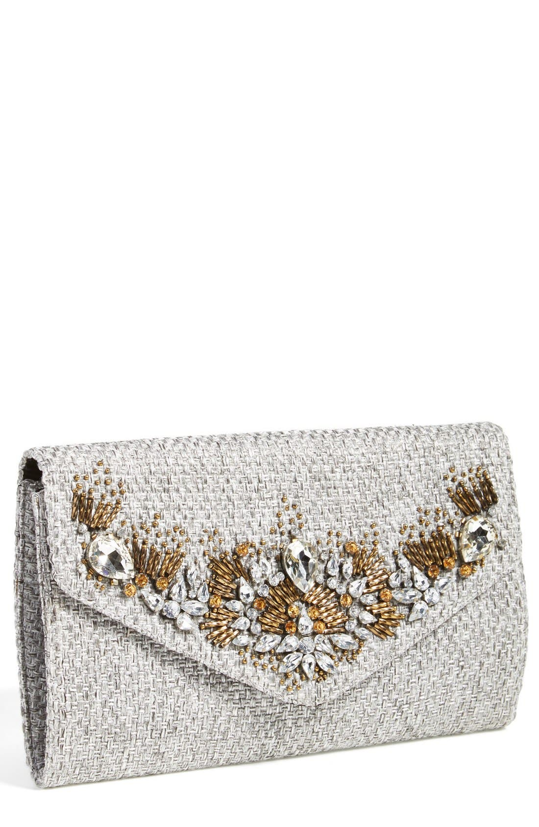 Main Image - Glint 'Crystallized' Envelope Clutch