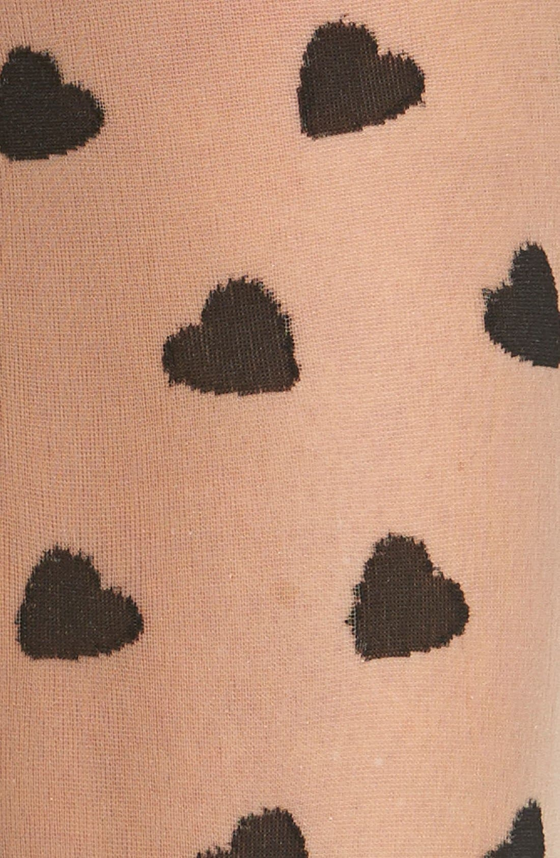 Alternate Image 2  - Pretty Polly Heart Pattern Tights