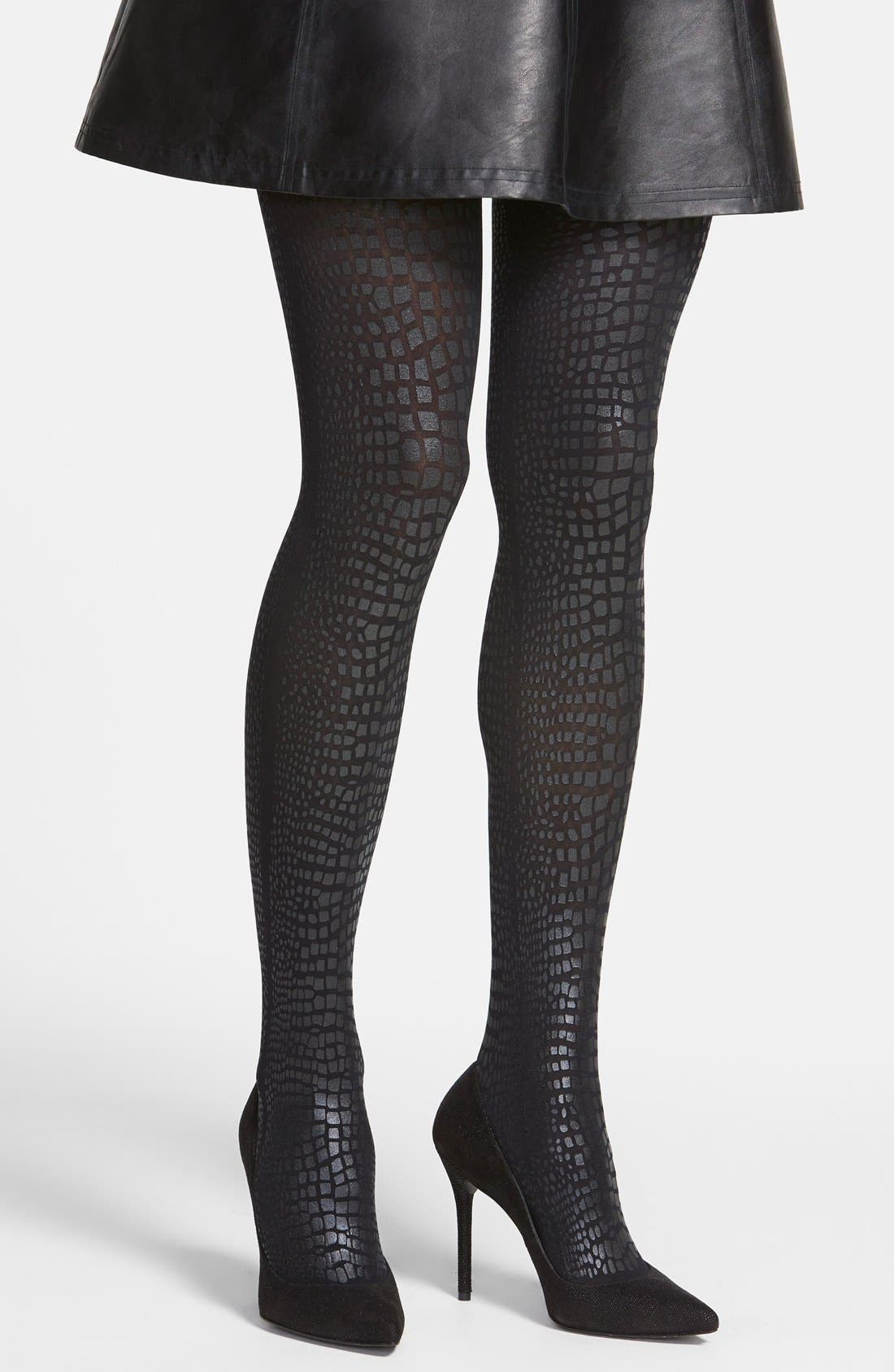 Alternate Image 1 Selected - Hue Coated Python Pattern Tights