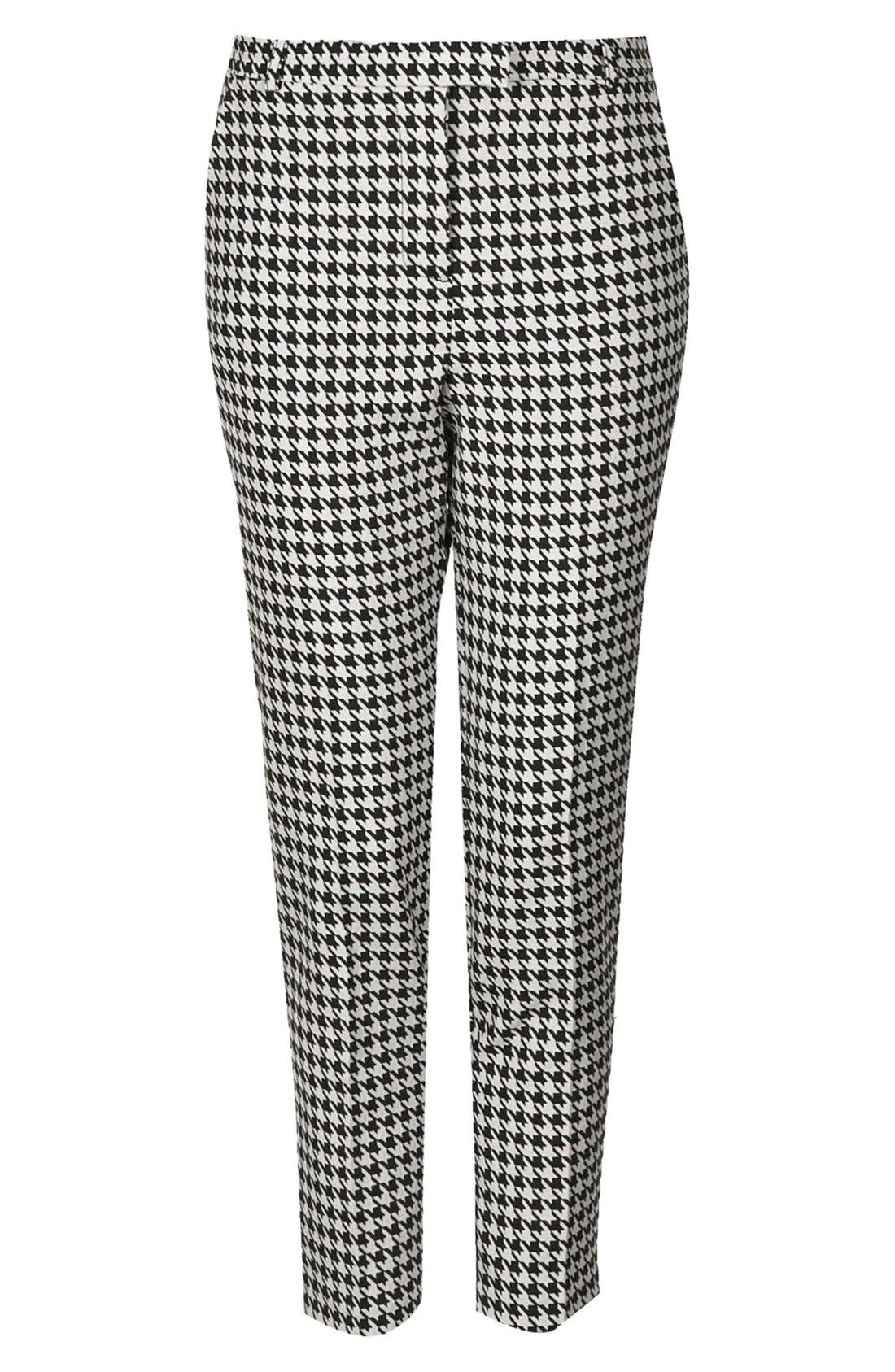 Alternate Image 3  - Topshop Houndstooth Cigarette Trousers