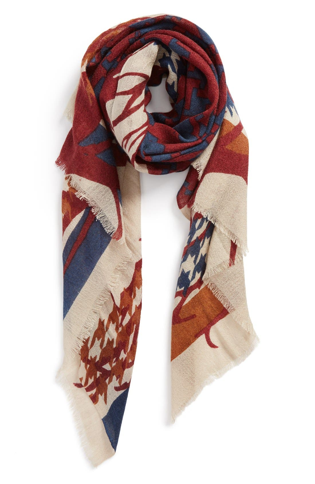 Alternate Image 1 Selected - Modena Graphic Print Scarf