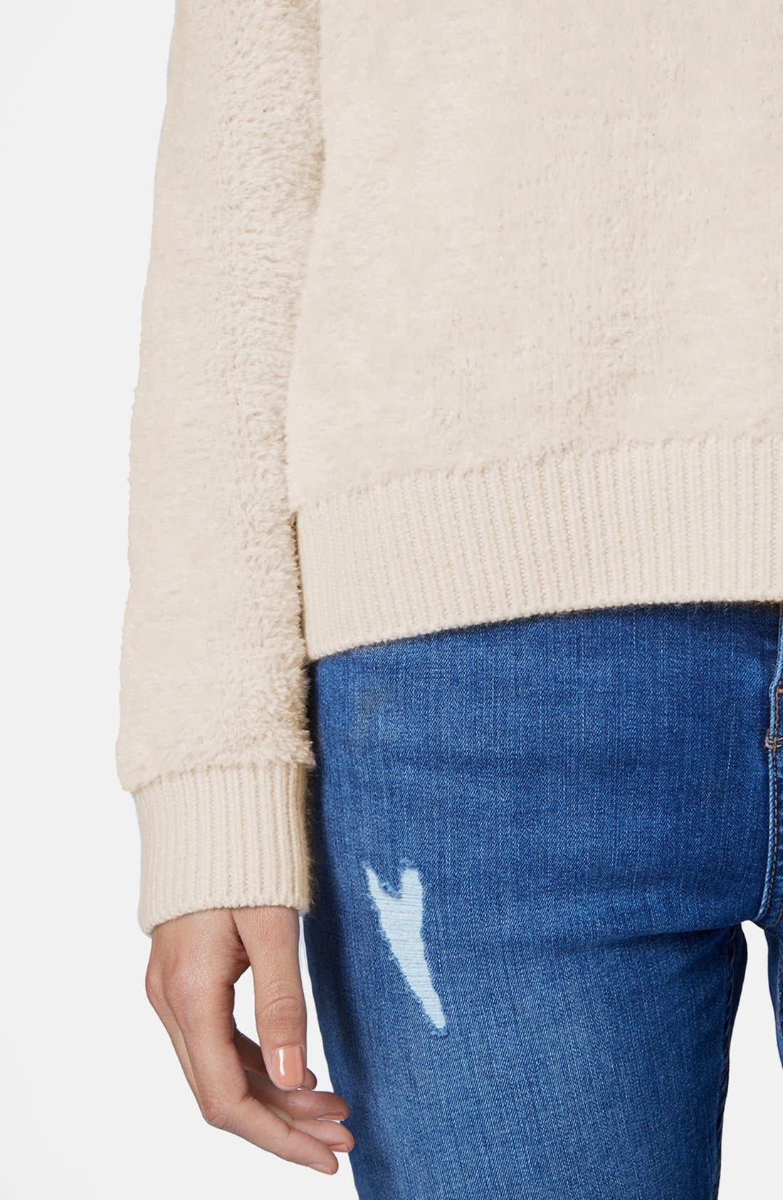Alternate Image 4  - Topshop Fluffy Pullover Sweater