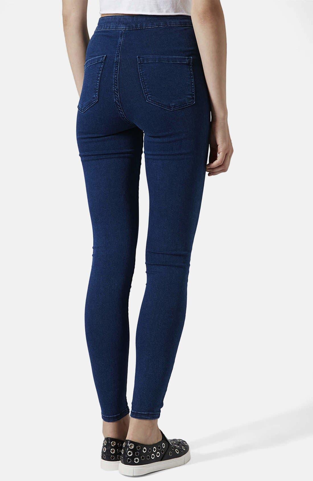 Alternate Image 2  - Topshop Moto 'Joni' Skinny Jeans (Dark Stone) (Short)
