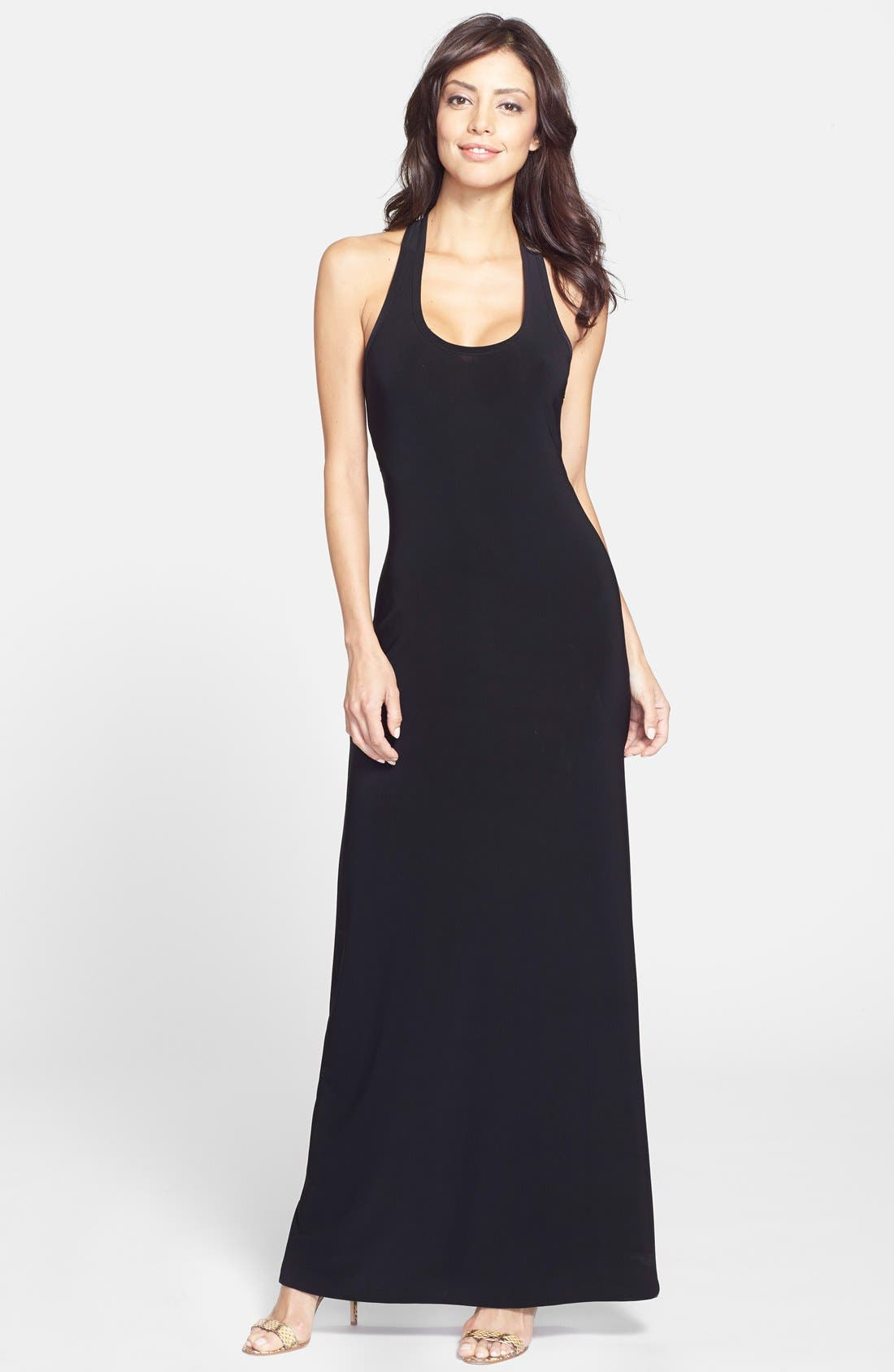 Main Image - KAMALIKULTURE Cutout Racerback Maxi Dress