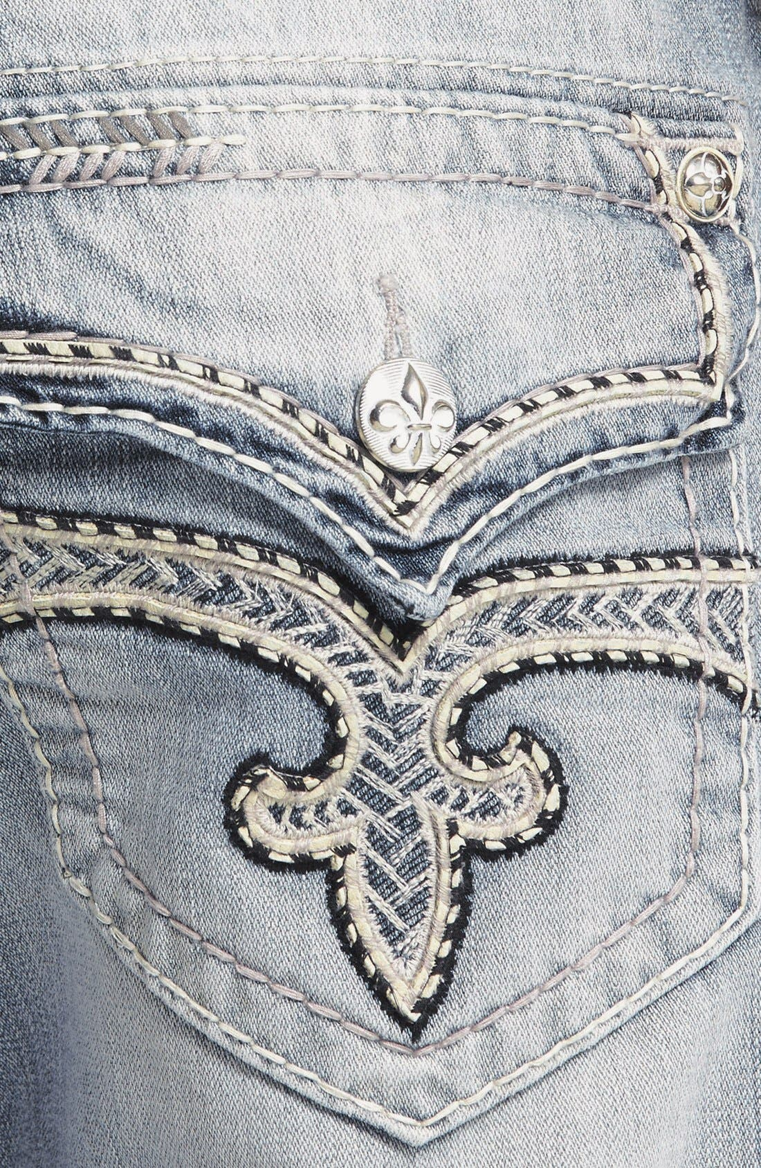 Alternate Image 4  - Rock Revival 'Humfrey' Straight Leg Jeans (Light Blue)