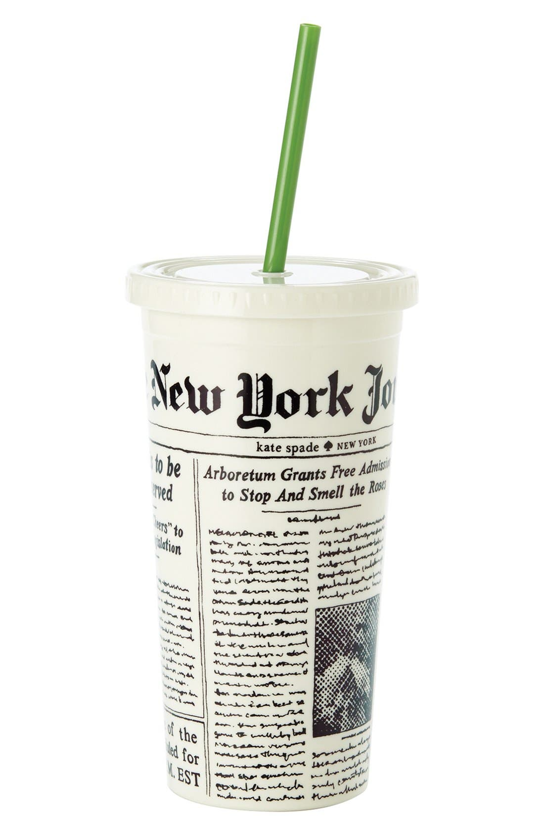 Alternate Image 1 Selected - kate spade new york 'media newspaper' insulated tumbler