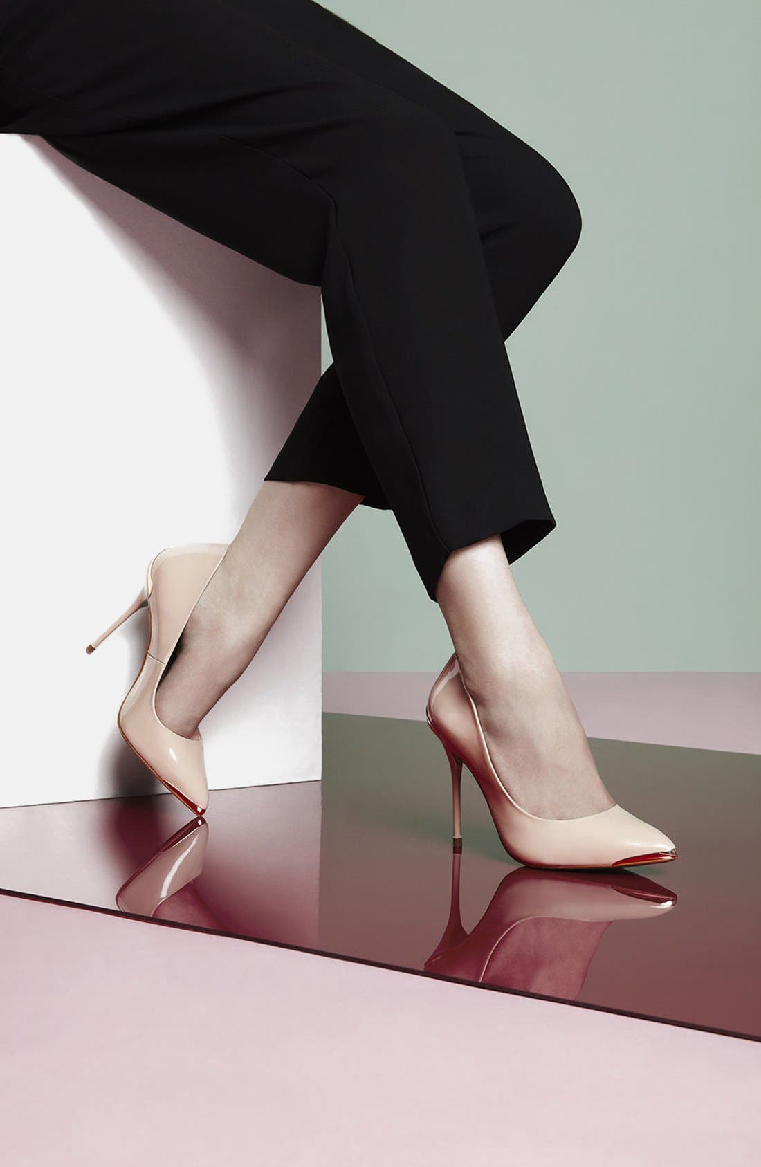 Alternate Image 5  - Topshop by CJG 'High Pitch' Patent Leather Pump (Women)