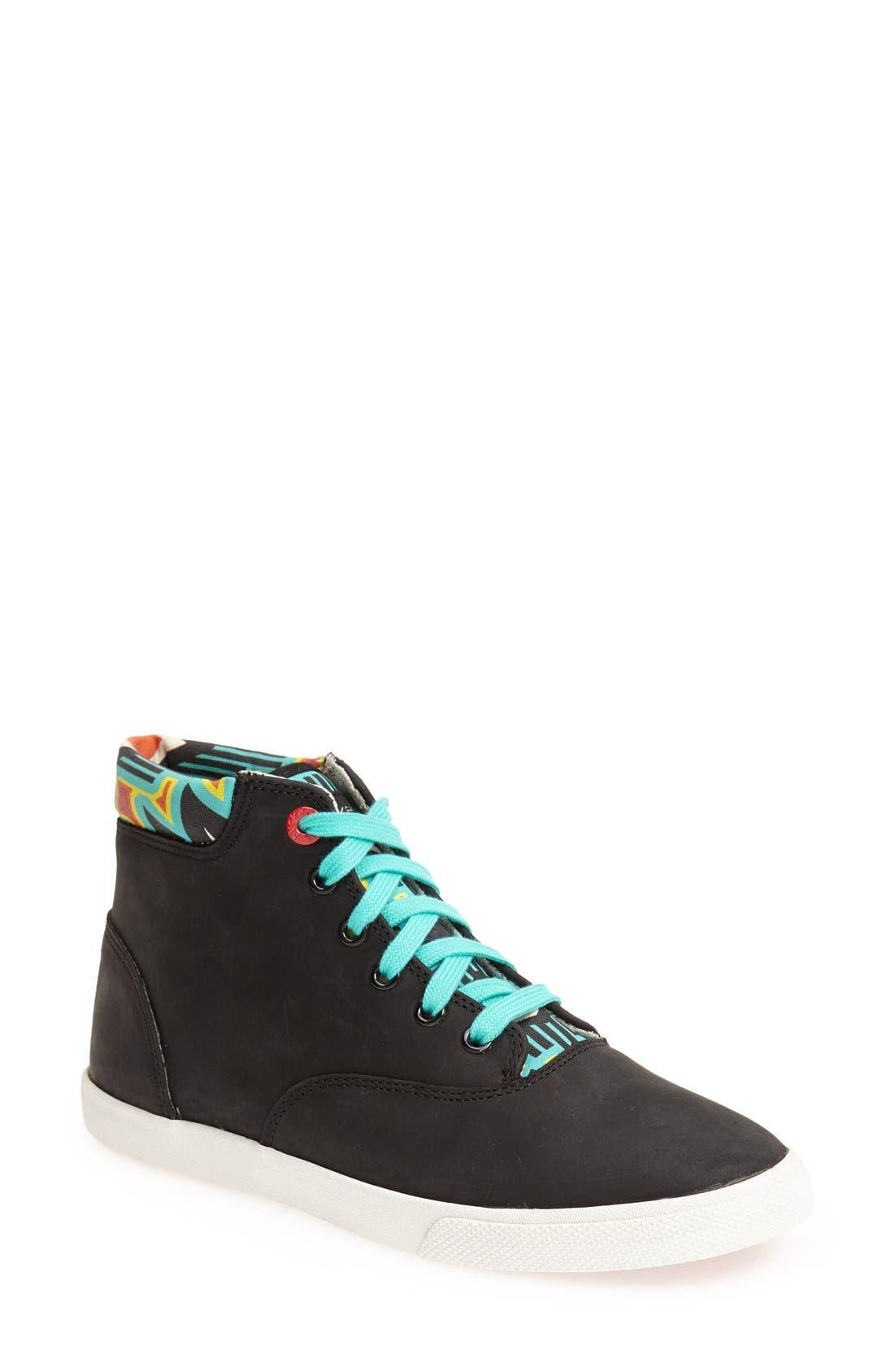 Main Image - BucketFeet 'Archer B' Mid Top Leather Sneaker (Women)