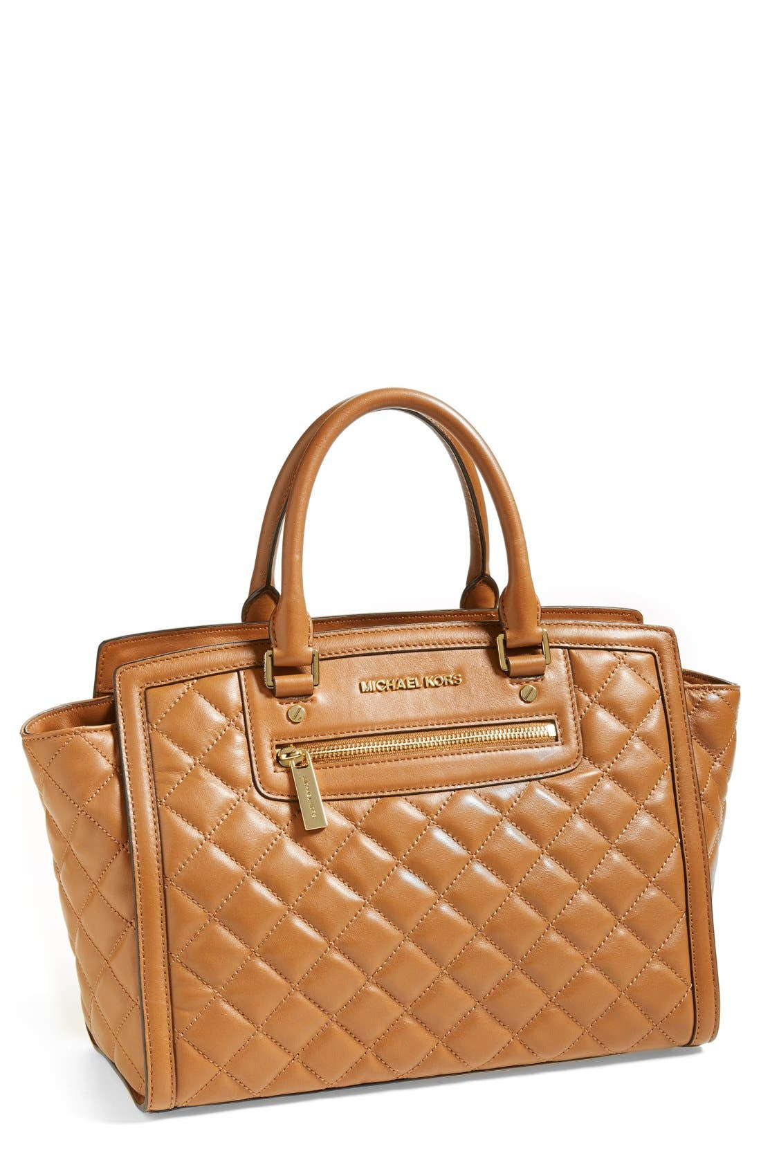 Main Image - MICHAEL Michael Kors 'Large Selma' Quilted Leather Satchel
