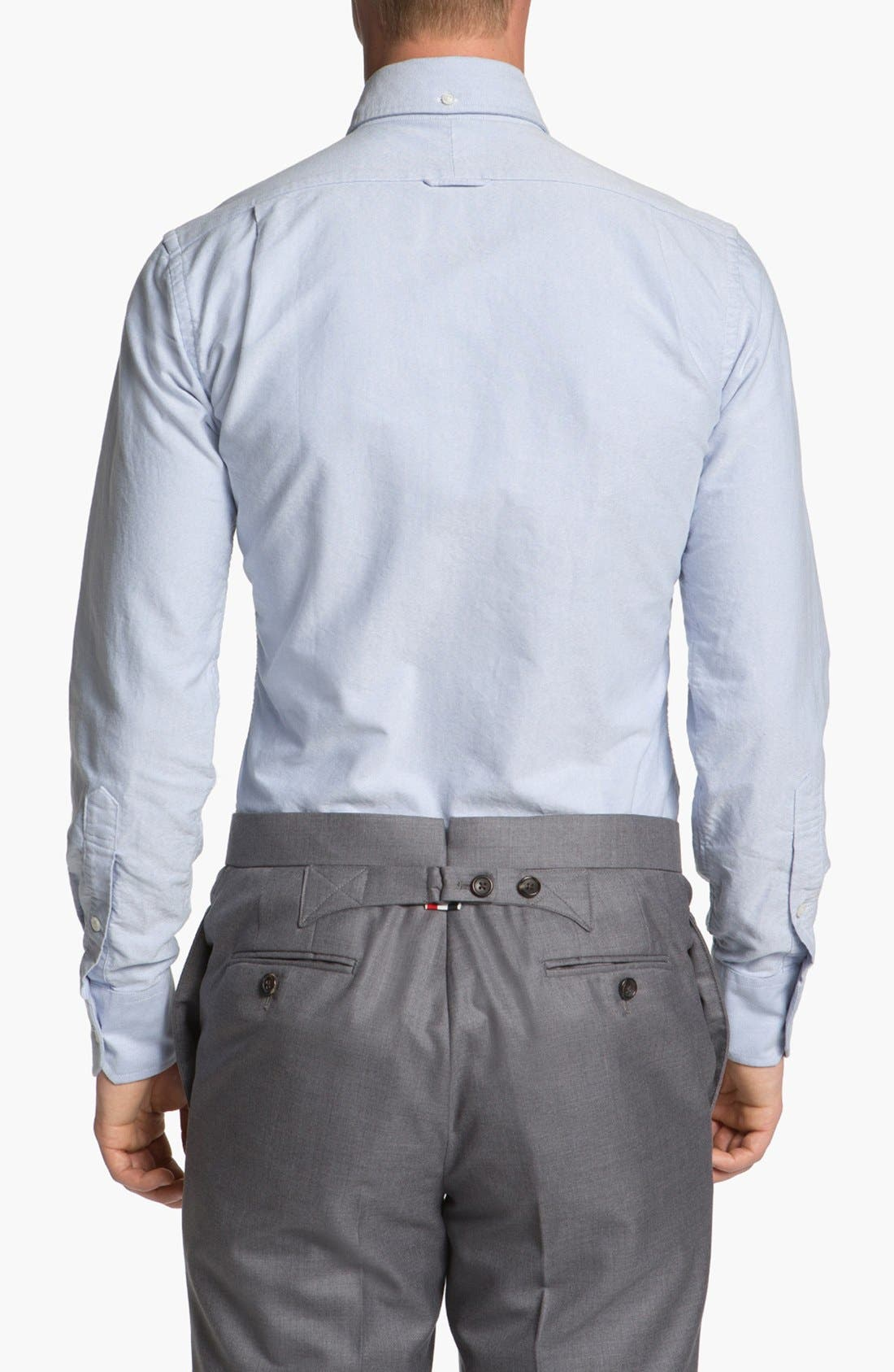 Alternate Image 2  - Thom Browne Oxford Shirt with Signature Placket