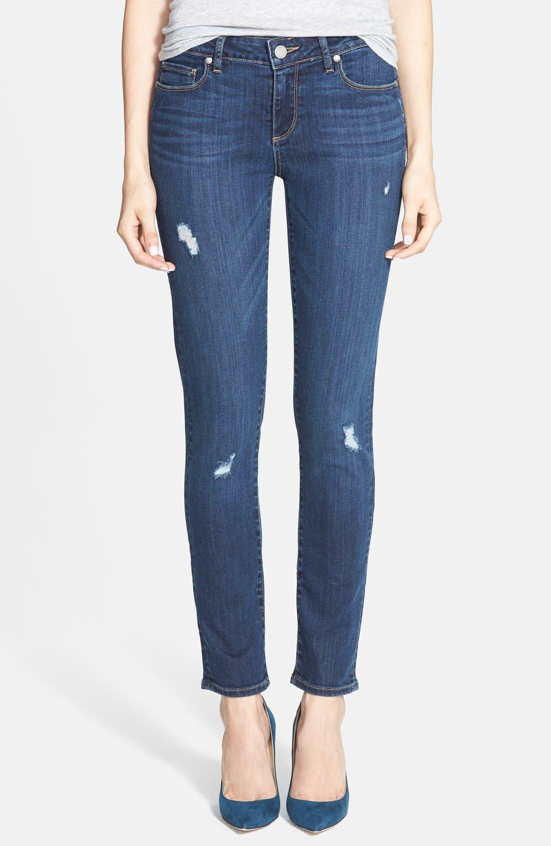 Main Image - Paige Denim 'Skyline' Ankle Peg Skinny Jeans (Lyric Deconstructed)