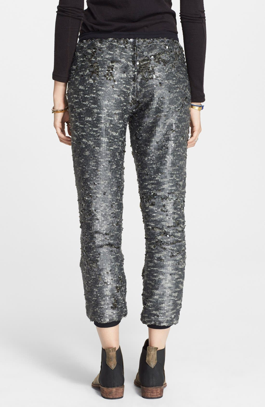 Alternate Image 2  - Free People Sequin Jogger Pants
