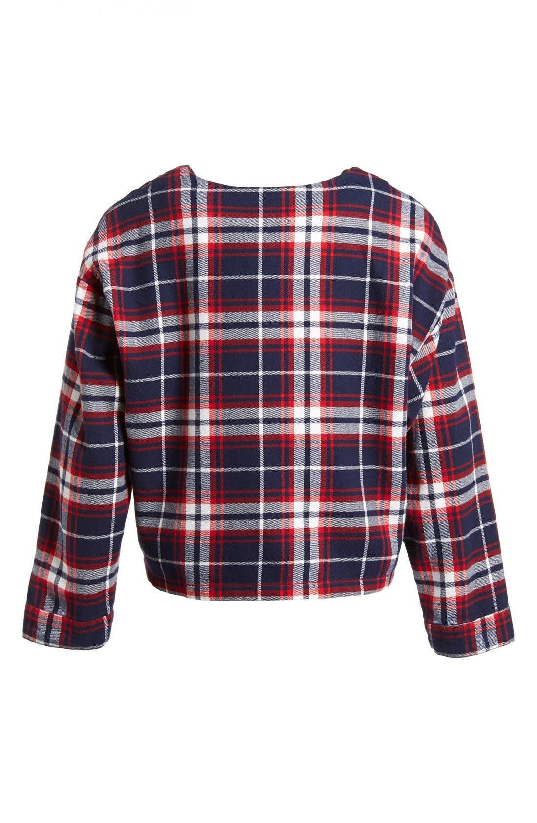 Alternate Image 6  - :CHOCOOLATE '78 Check' Cotton Flannel Shirt (Women)