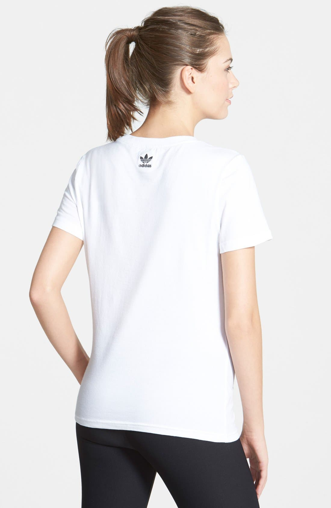 Alternate Image 2  - adidas Trefoil Logo Short Sleeve Tee