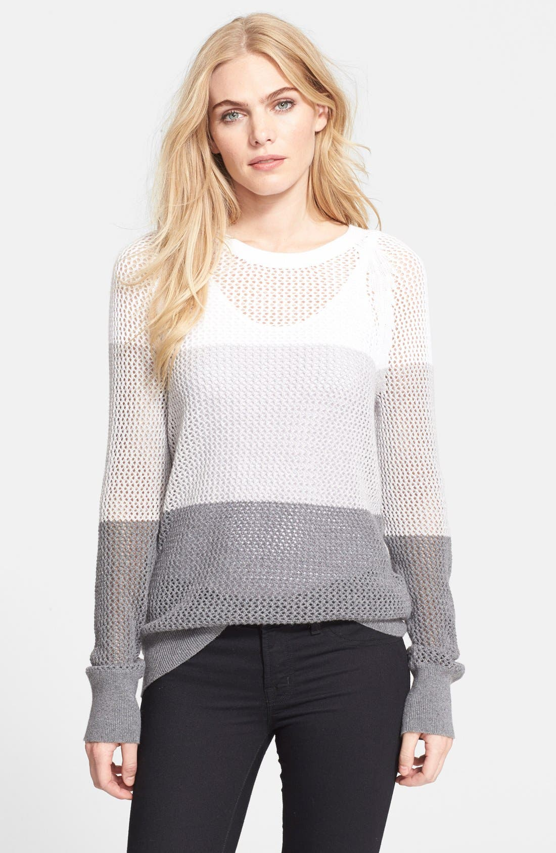 Alternate Image 1 Selected - Equipment 'Sloane' Colorblock Cotton & Cashmere Mesh Sweater