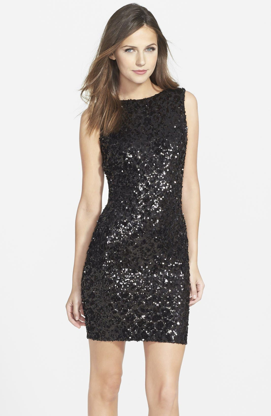 Alternate Image 1 Selected - Dress the Population 'Kim' Sequin Body-Con Dress
