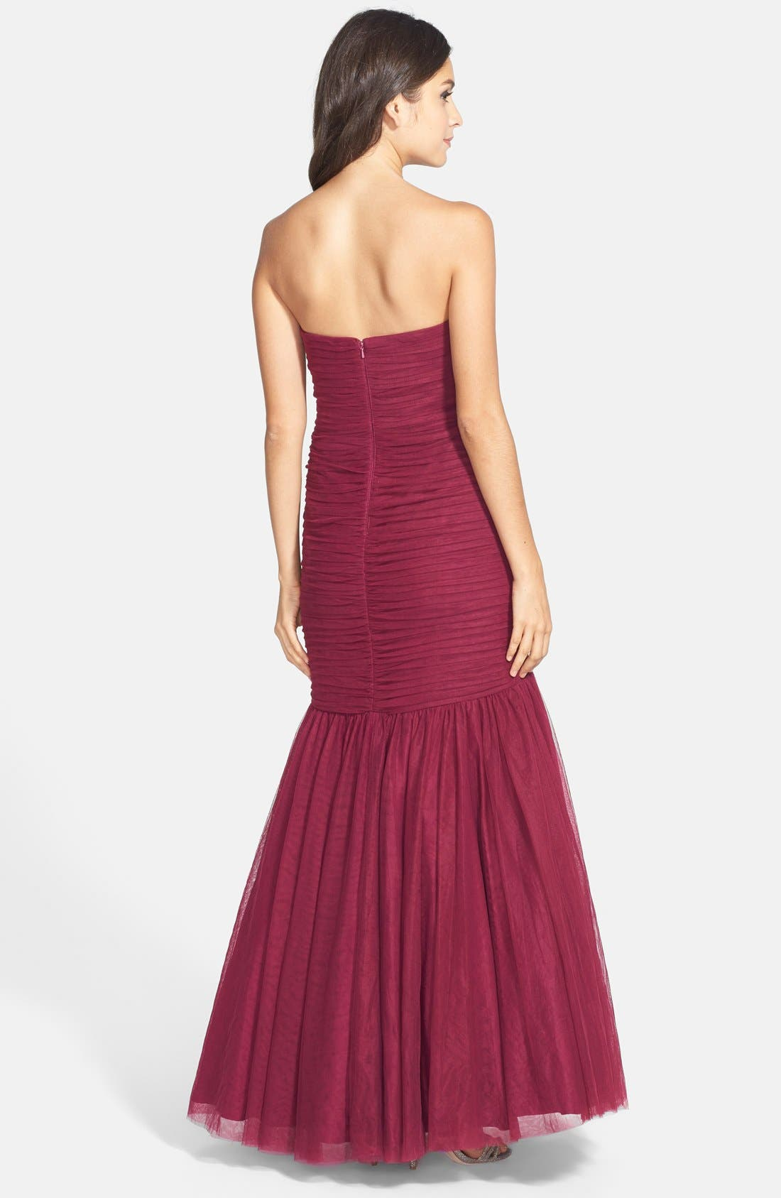Alternate Image 2  - JS Collections Ruched Sweetheart Mermaid Gown