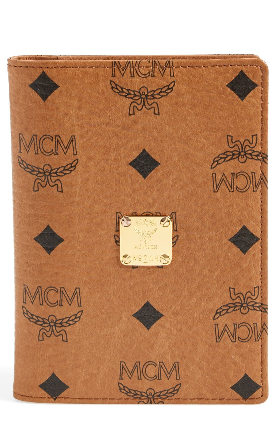 Alternate Image 1 Selected - MCM 'Visetos' Coated Canvas Passport Case